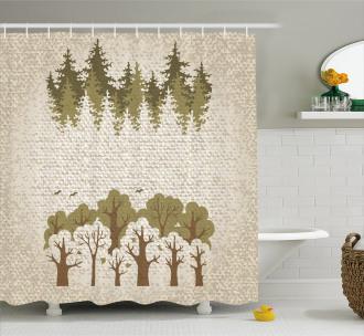 Summer Season Trees Shower Curtain