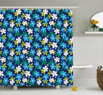 Gentle Hibiscus Pattern Shower Curtain