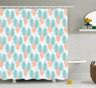 Exotic Foliage Leaves Shower Curtain