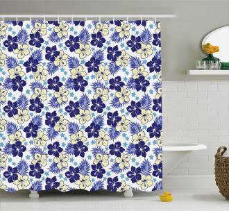 Hibiscus Bloom Nature Shower Curtain