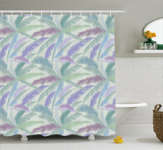 Abstract Tropic Leaves Shower Curtain