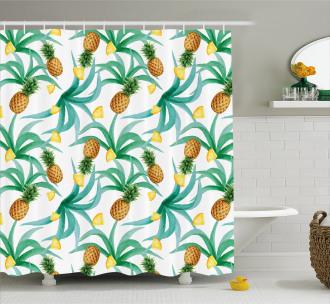 Botany Inspired Fruits Shower Curtain