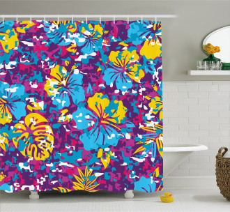 The Aloha State Exotic Shower Curtain