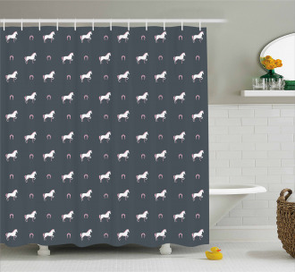 Wild Mustang Pattern Shower Curtain