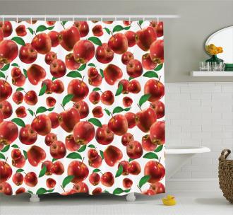 Autumn Season Fruits Shower Curtain