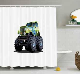 Monster Truck Off Road Shower Curtain