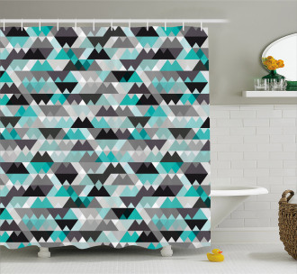 Zig Zag Mosaic Shower Curtain