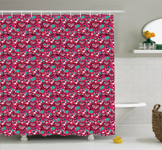 Abstract Love Symbol Shower Curtain