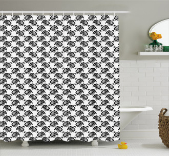 South Asian Animals Shower Curtain