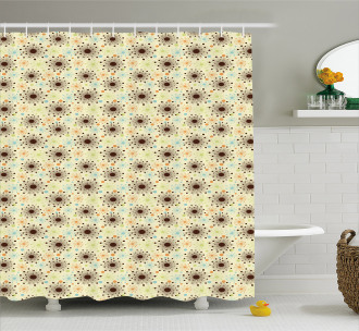 Abstract Floral Dots Shower Curtain