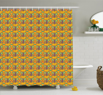 Colorful Animal Motif Shower Curtain