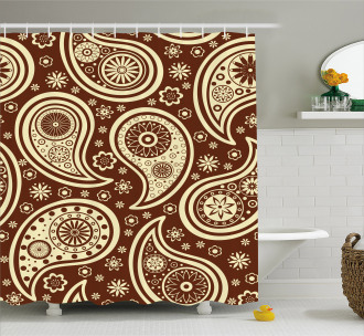 Floral Paisley Shower Curtain