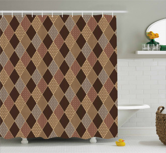 Lozenge Pattern Shower Curtain