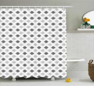 Intricate Knot Motifs Shower Curtain