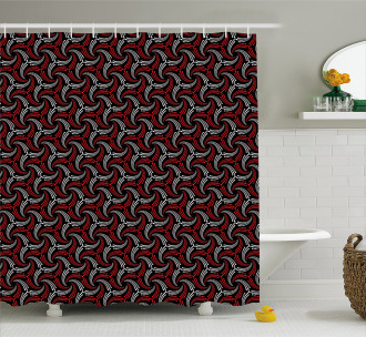 Curvy and Dotted Shower Curtain