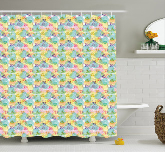 Boho Chic Hipster Style Shower Curtain