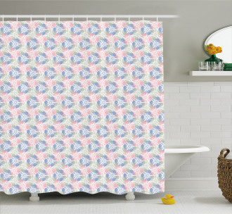 Stylized Spring Flowers Shower Curtain