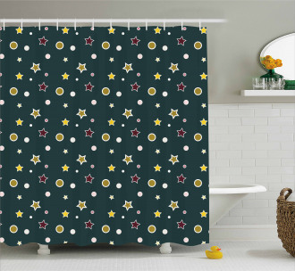 Stars Snowflakes Shower Curtain