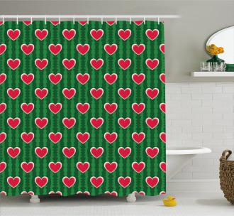 Symbol of Love Pattern Shower Curtain
