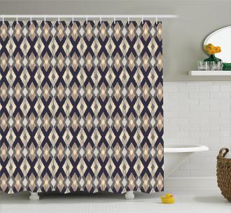Ethnic Asian Ikat Style Shower Curtain