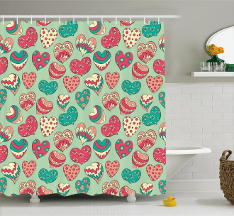 Colorful Love Cheers Shower Curtain