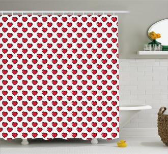 Valentine's Day Design Shower Curtain