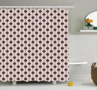 Javanese Batik Motif Shower Curtain