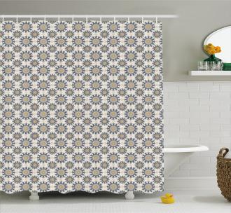 Eastern Flower Design Shower Curtain