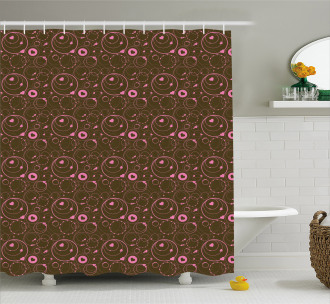 Valentines Day Circles Shower Curtain