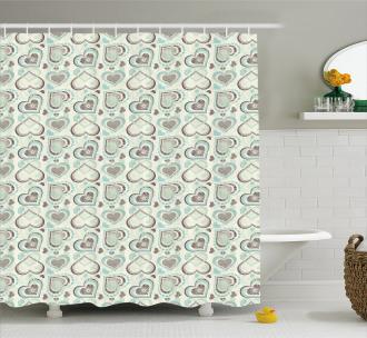 Romantic Symbol Pattern Shower Curtain