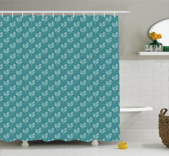 Abstract Dots Arrangement Shower Curtain