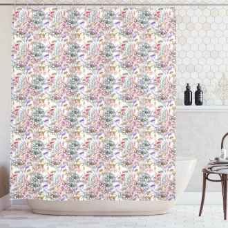 Artistic Spring Scroll Shower Curtain