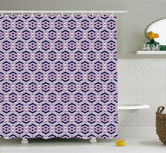 Diagonal Lines Design Shower Curtain