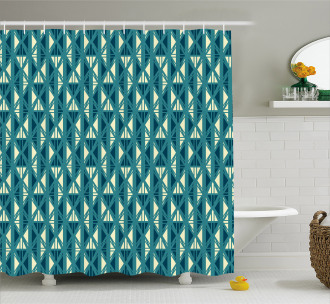 Abstract Oriental Stripes Shower Curtain