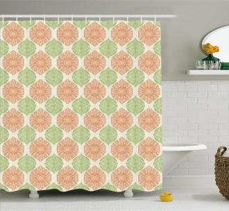 Far East Flowers Design Shower Curtain