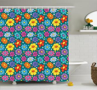 Fresh Spring Baby Pattern Shower Curtain
