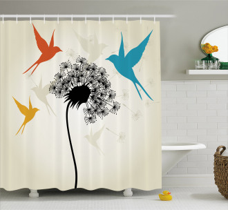 Fauna and Flora Pattern Shower Curtain