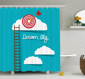 Dream Big Phrase Shower Curtain