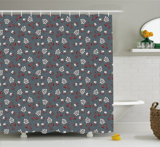 Spring Petals Blooms Shower Curtain