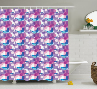 Pastel Colored Square Shower Curtain