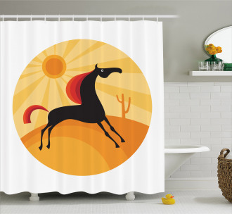 Abstract Animal Desert Shower Curtain