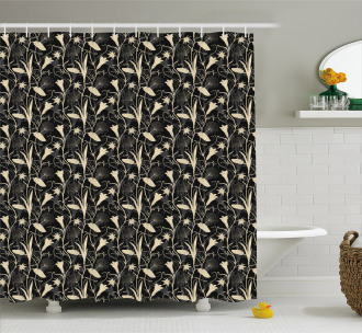 Zen Blossoms Mystic Shower Curtain