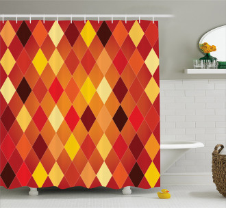 Lozenge Geometric Shower Curtain