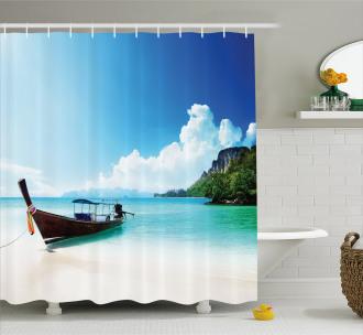 Boat Poda Island Thai Shower Curtain