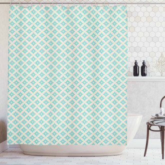 Geometric and Retro Shower Curtain