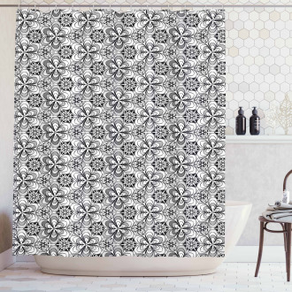 Sketch Garden Shower Curtain