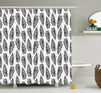Stylized Exotic Forest Shower Curtain