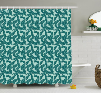 Abstract Palm Leaves Shower Curtain