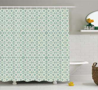 Retro Triangle Pattern Shower Curtain