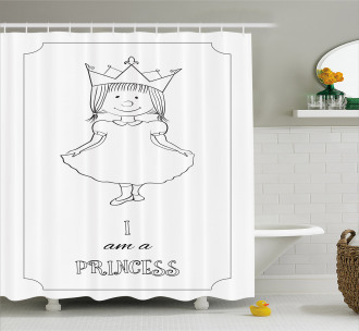 Girl in Crown Shower Curtain